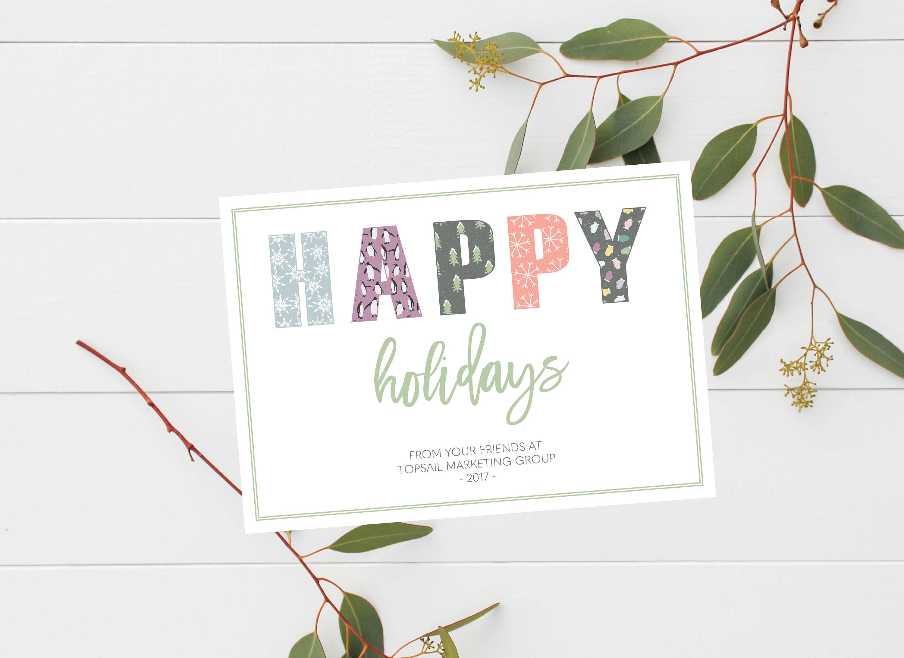 Lovely pictures of holiday cards for business business cards and business happy holidays card winter client thank you card magicingreecefo Images
