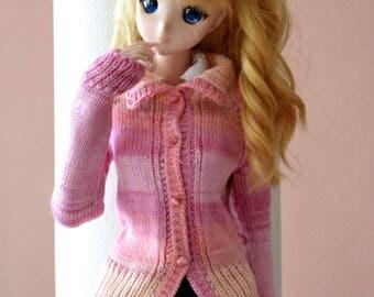 Pink cardigan for Smartdoll