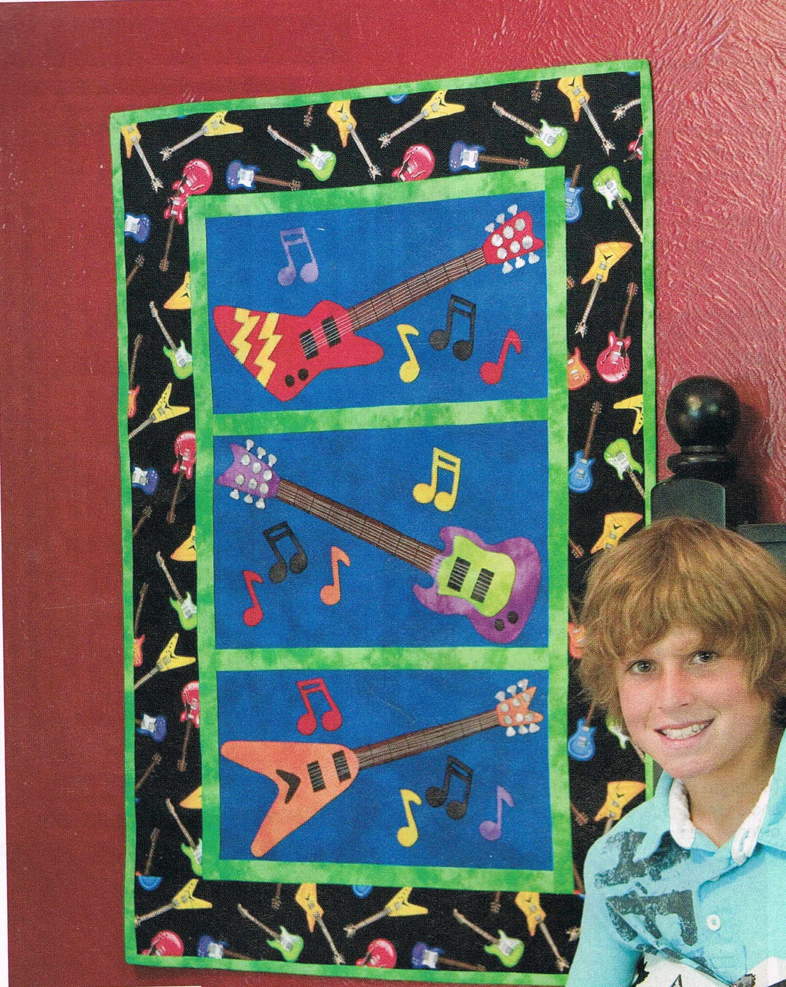 Quilt pattern electric guitar wall hanging quilt sewing pattern sold by busybeaverboutique jeuxipadfo Choice Image