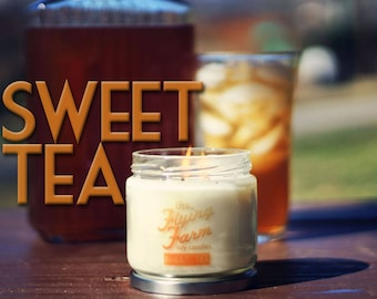 Sweet Tea ~ Small Batch Scented Soy Jar Candle, Iced Tea Scent