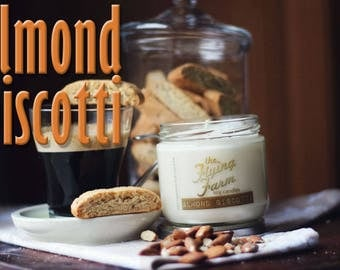 Almond Biscotti ~ Scented Soy Jar Candle