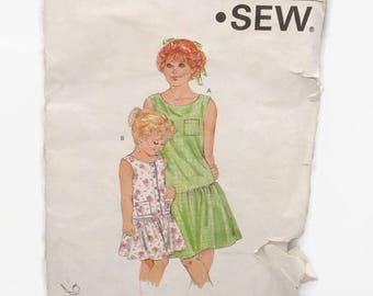 Kwik Sew 1582 Girls Dress Dropped Waist and Gathered UNCUT