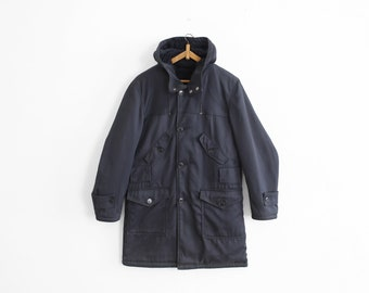 Vintage Winter Parka - Shearling/Coton twill - Navy - Size S