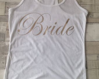 Bride Vest Top Tank Rose Gold Vest