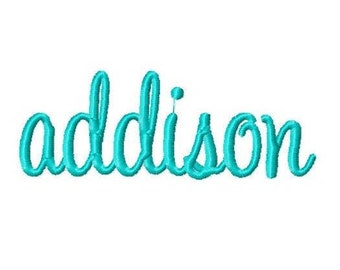 Addison Custom Name Embroidery Design