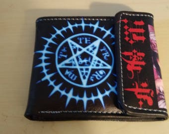 Synthetic Leather Wallet - Black Butler Seal
