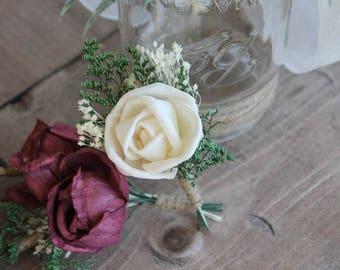 Single Rose Sola Boutonniere, Ivory Rose Boutonniere, Ivory Wedding  Boutonniere, Ring Bearer Boutonniere