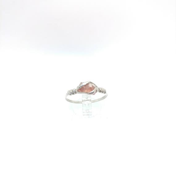 Build Your Own Raw Stone Engagement Ring | Raw Crystal Ring | Raw Red Oregon Sunstone Ring | Sterling Silver Ring  | MADE TO ORDER