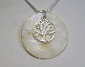 Tree of Life pendant with Mother of Pearl background CCS64