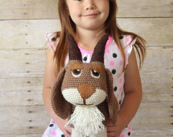 Stuffed Goat - Kids Toys - Plushie Toy Goat - Stuffed Animal Goat - Baby Toys - Barn Animals - Nursery Decor