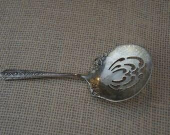 "Antique Wallace Normandie Sterling Silver Nut Bon Bon Spoon 5"" PAT 87765"