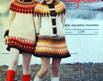 Reynolds New Icelandic Fashion Lopi Volume 77 Vintage Knitting Pattern Leaflet 1980