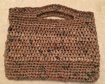 Unique, Durable Plarn Market Bag made from Recycled Grocery Bags