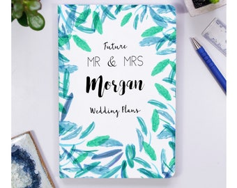 Engagement Notebook Gift - Mr And Mrs To Be Engagement Notebook Gift - Engagement Gift - Engagement party gift - Wedding Planner