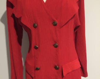 1980'S CUE AUSTRALIAN Vintage Red Jacket - Top