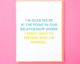 Valentine's Day Card. Funny Anniversary Card. Funny Card for Boyfriend. Card for Best Friend. Valentine for Husband. Galentine's Day Card