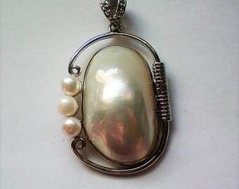 Large Blister Pearl Pendant - 5397