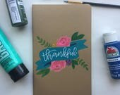 Hand Painted Thankful Journal