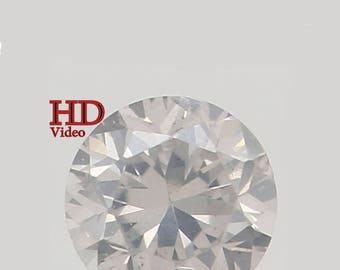 2.60 MM 0.076 Ct Natural Loose Diamond Round Shape fancy White Color SI1 L8638