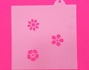 Flower Stencils, Flower Mini Stencils, Flower Oreo Stencils, Flower Macaron Stencils, Flower Cupcake Stencils, Flower Stencils Set, Fondant