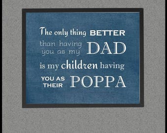 Poppa Bear, Gift for Grandpa from Son, from Daughter, Dad Grandpa Quote, Papa Sign, Grandpa Grandchildren Sign Father's Day Printable Poster