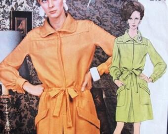 60s MOD Guy Laroche Dress Pattern VOGUE PARIS Original 2184 Casual Dress Large Pockets Bust 38 Vintage Sewing Pattern