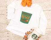 Pumpkin Spice Duh Fall Coffee Applique Girls Boutique Shirt