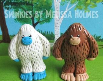 Miniature Bigfoot or Yeti Sculpture