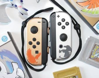 Nintendo Switch - Pokemon Gold And Silver - Lugia / Ho-oh Legendary - Custom Joy-Cons - Pokken Tournament DX
