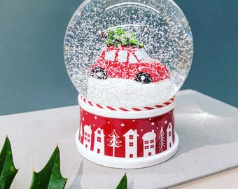 Personalised VW Bug Beetle Snow Globe, Christmas 2018 Snow Globe, Custom Glass Snowglobe, Birthday Gift Ideas, Mothers Day Gifts, For Her