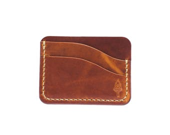The Seafarer Wallet - Horween Natural Dublin - handmade by Legacy Brand Leather