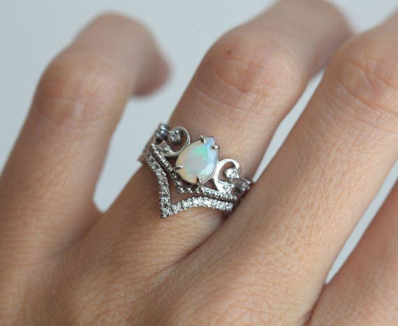 Opal Wedding Ring Sets Wedding Rings Wedding Ideas And Inspirations