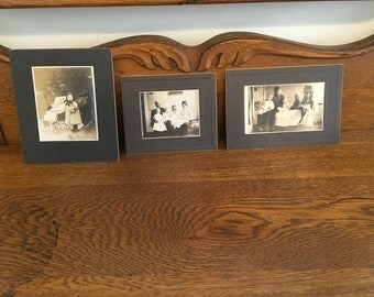 Antique Victorian Family Photos Cabinet Cards, Antique Sephia Photos of Children, Children Photos