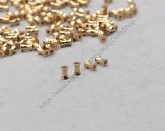 50Pcs, 6mm Raw Brass Tube Beads GY-GX525