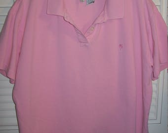 Lilly Pulitzer Large Tee Shirt,  Pink Cotton Polo Light Pink- Vintage LP Find see details
