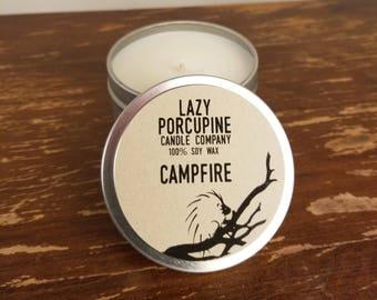 Campfire - 100% Soy 6oz Candle Tin