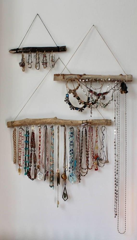 organisateur de bijoux bois flott pr t exp dier taille. Black Bedroom Furniture Sets. Home Design Ideas