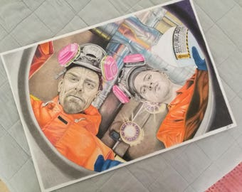Sulfuric Acid (Breaking Bad) - original color pencil drawing (size A3, 42 x 29,7 cm)