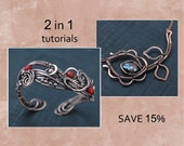 Tutorial wire wrapl Wire wrapped pendant Wire wrapped bracelet lesson PDF master class Jewelry making tutorial DIY project Copper jewelry