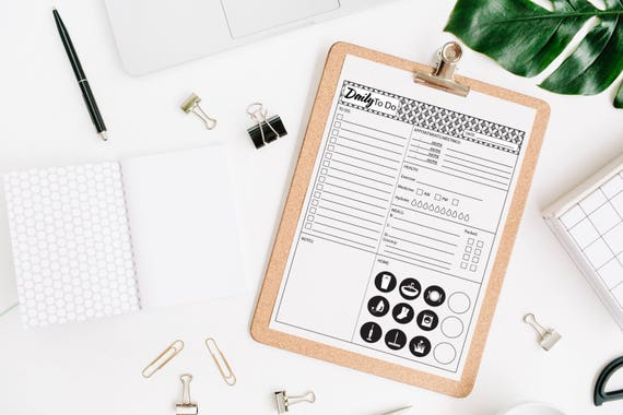 Daily To Do List Printable, Instant Digital Download
