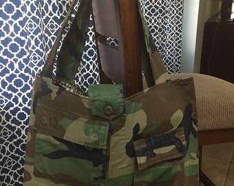 Military BDU Large Tote Bag