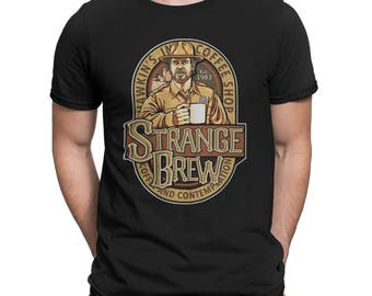 Mornings Are For Coffee and Contemplation Strange Brew Coffee Shop 80s Retro TV show Parody t-shirt tee shirt Mens Ladies Womens COD-363