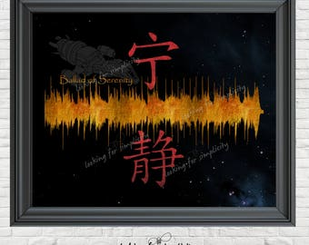 New Waveform (Voice Print Sound Wave) Art!  Ballad of Serenity (Opening them to Firefly)