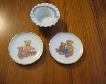 Limoges Miniature Plates and Basket