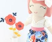 Lady Vivienne, handmade fabric doll