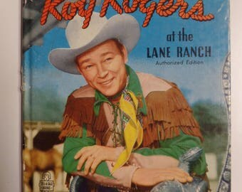 Roy Rogers at the Lane Ranch Whitman Tell-A-Tale 1950 Vintage Western Hardcover Kids Book