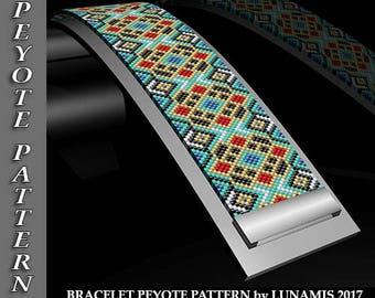 Peyote bracelet pattern, odd count, peyote pattern, stitch pattern, pdf file, pdf pattern, #107P