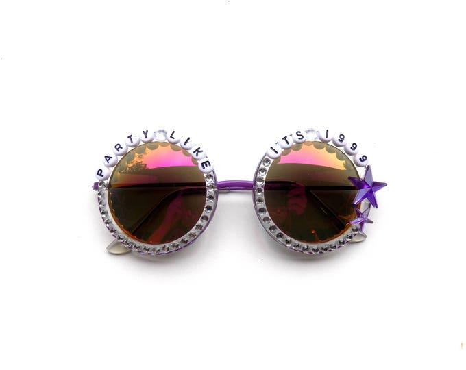 "Prince ""Party Like It's 1999"" hand decorated sunglasses, Phish Baker's Dozen commemorative sunglasses"