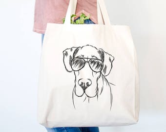 Titus the Great Dane Dog Canvas Tote Bag