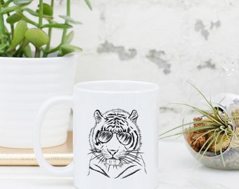 Taz the Tiger - Gifts For Animal Lover, Zoologist Art, Zookeeper Gift